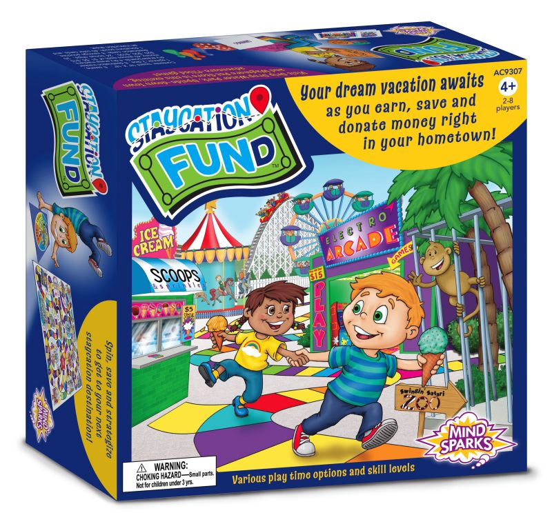 Mind Sparks® Staycation FUNd™ Board Game